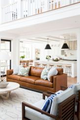 Modern leather living room furniture ideas (48)