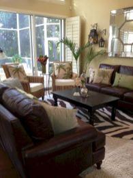 Modern leather living room furniture ideas (50)