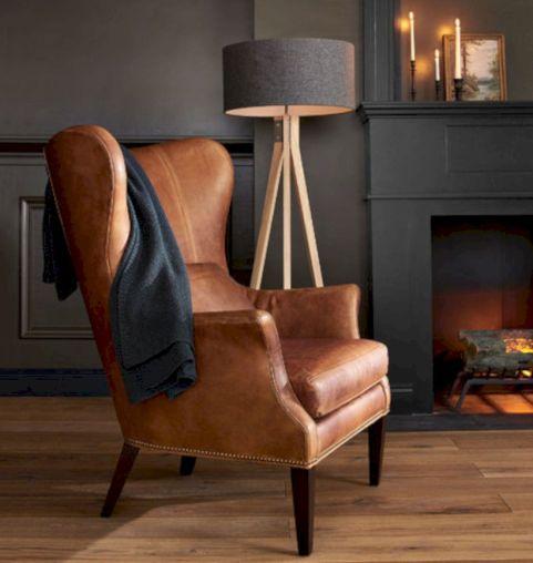 Modern leather living room furniture ideas (52)
