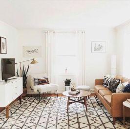 Modern leather living room furniture ideas (54)