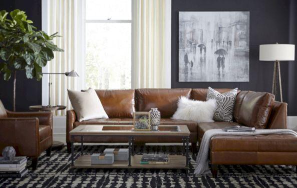 Modern leather living room furniture ideas (57)