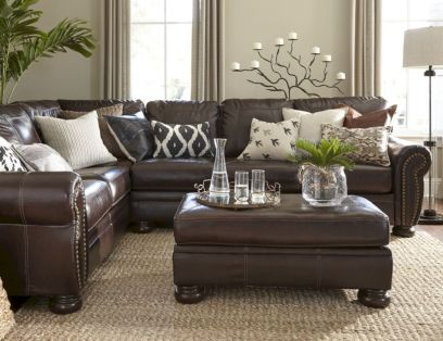 Modern leather living room furniture ideas (64)