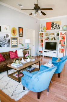 Modern leather living room furniture ideas (9)