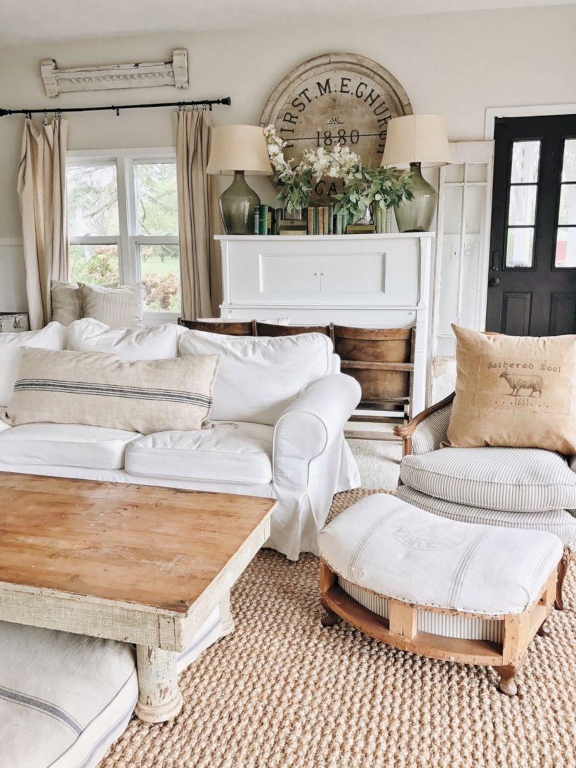 Rustic living room curtains design ideas (1) - ROUNDECOR