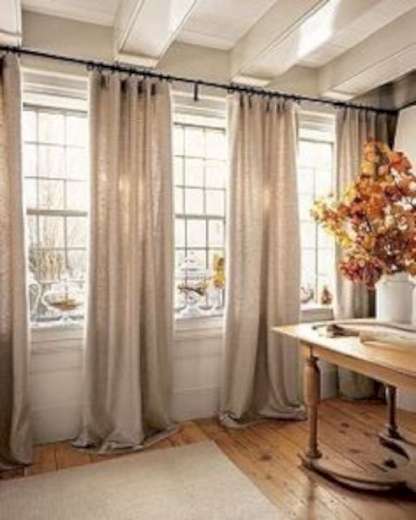 Delicieux Rustic Living Room Curtains Design Ideas (43)