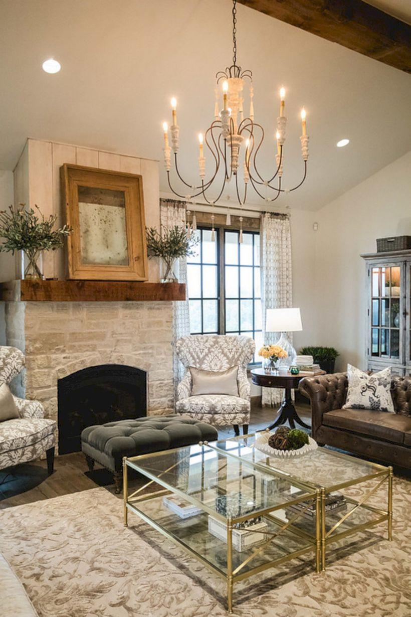 Rustic living room curtains design ideas (52) - ROUNDECOR