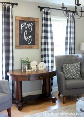 rustic living room curtains design ideas 56