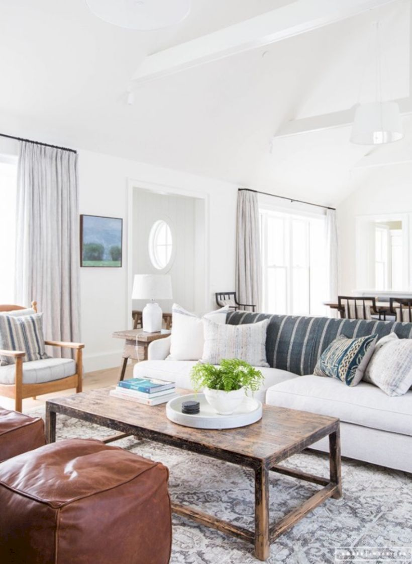 Rustic living room curtains design ideas (59) - Round Decor