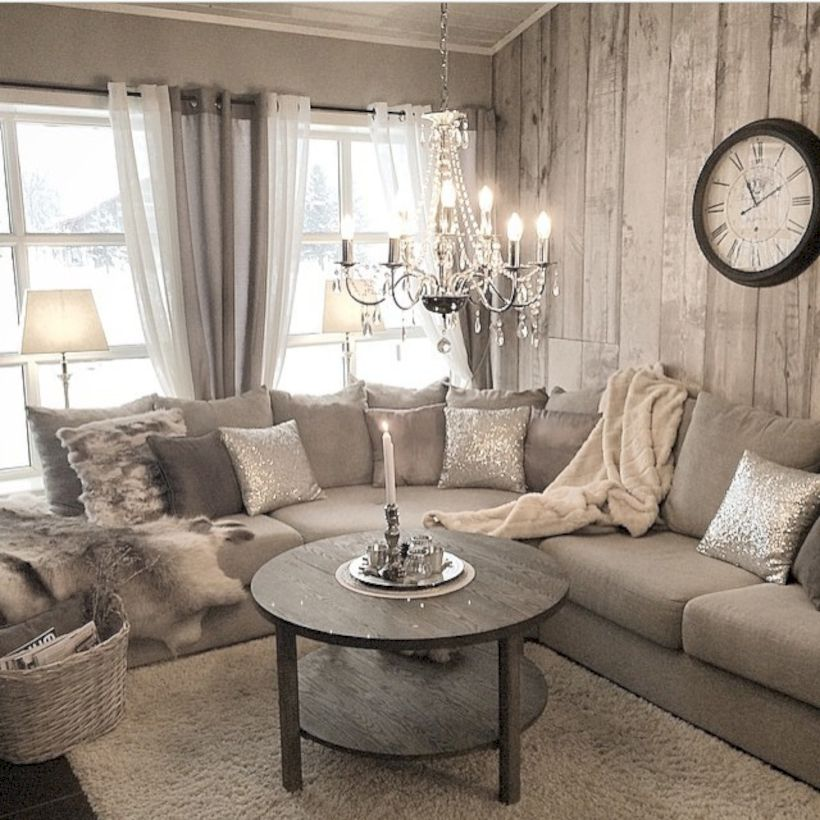 33 Rustic Living Room Decor Ideas: Rustic Living Room Curtains Design Ideas (62)