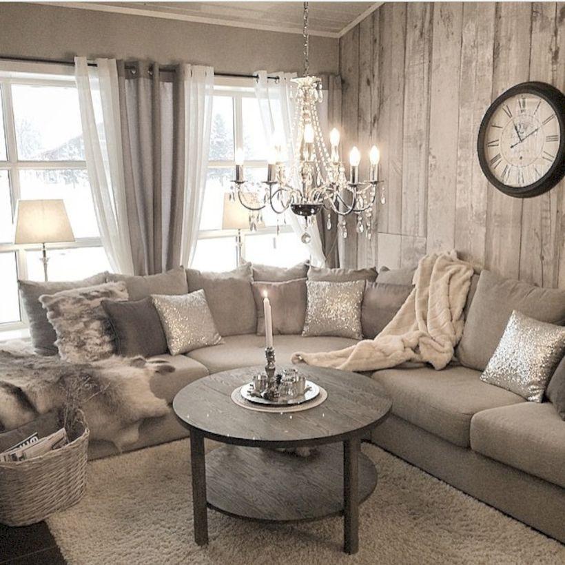 rustic living rooms bay window room 62 curtains design ideas round decor
