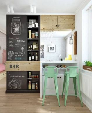 Small modern industrial apartment decoration ideas 06