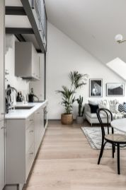 Small modern industrial apartment decoration ideas 20