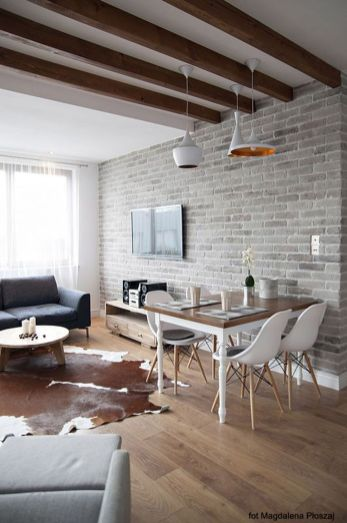 Small modern industrial apartment decoration ideas 24