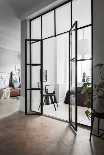 Small modern industrial apartment decoration ideas 25