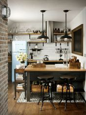 Small modern industrial apartment decoration ideas 37