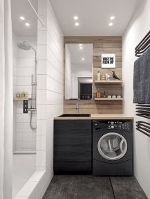 Small modern industrial apartment decoration ideas 47