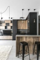 Small modern industrial apartment decoration ideas 51