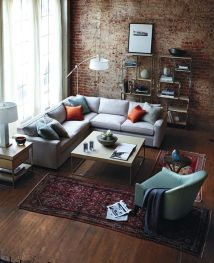Small modern industrial apartment decoration ideas 64