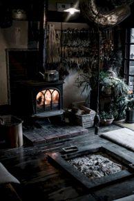 Stylish dark wood floor ideas for your living room (15)