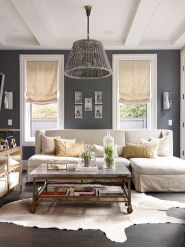 Stylish dark wood floor ideas for your living room (17)