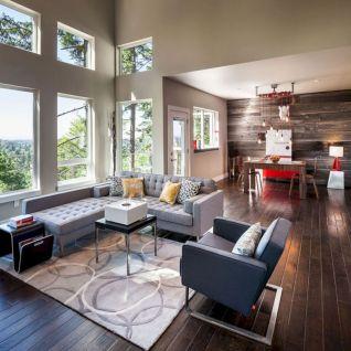 Stylish dark wood floor ideas for your living room (19)