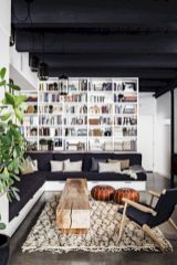 Stylish dark wood floor ideas for your living room (21)