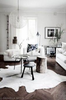 Stylish dark wood floor ideas for your living room (26)