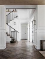 Stylish dark wood floor ideas for your living room (39)