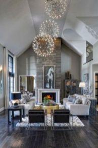 Stylish dark wood floor ideas for your living room (43)