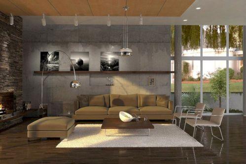 Stylish dark wood floor ideas for your living room (44)