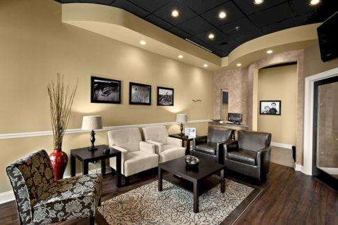 Stylish dark wood floor ideas for your living room (9)