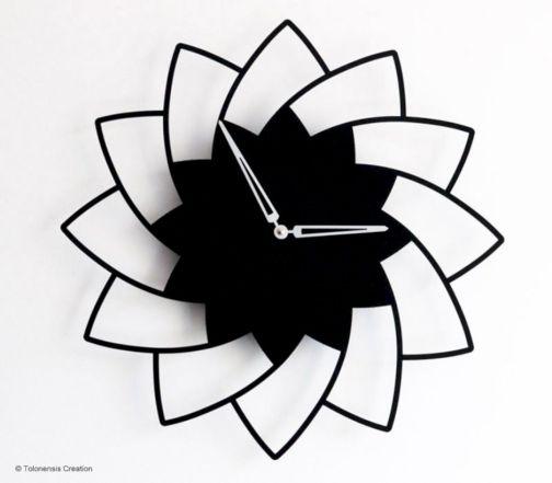 Unique wall clock designs ideas 21