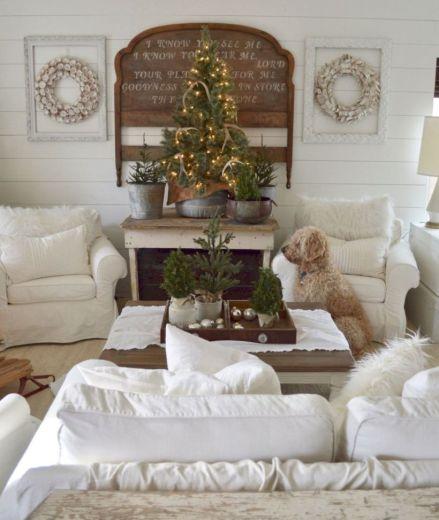 Adorable christmas living room décoration ideas 47 47