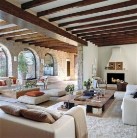 Adorable country living room design ideas 04