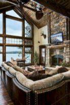 Adorable country living room design ideas 09