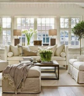 Adorable country living room design ideas 11