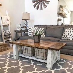 Adorable country living room design ideas 18