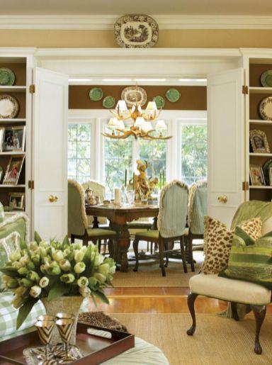Adorable country living room design ideas 46