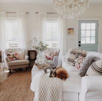 Adorable country living room design ideas 50