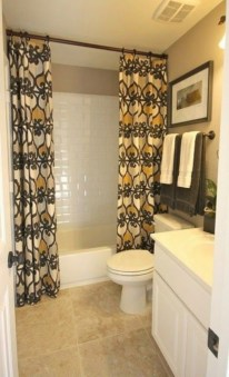 Affordable shower curtains ideas for small apartments 01
