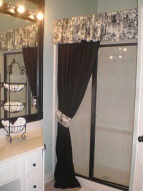 Affordable shower curtains ideas for small apartments 04