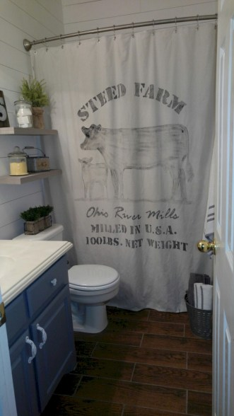 Affordable shower curtains ideas for small apartments 49