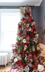 Beautiful christmas decoration ideas in red domination 01