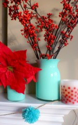 Beautiful christmas decoration ideas in red domination 25