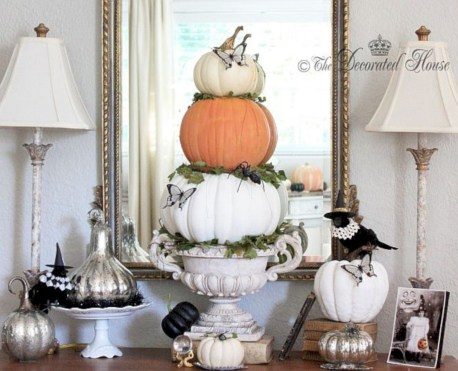 Beautiful ideas for elegant black and white halloween 10