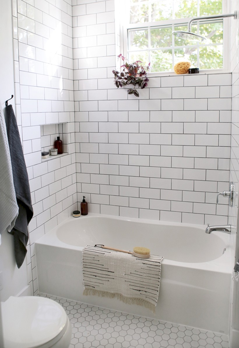 Beautiful subway tile bathroom remodel and renovation (31)