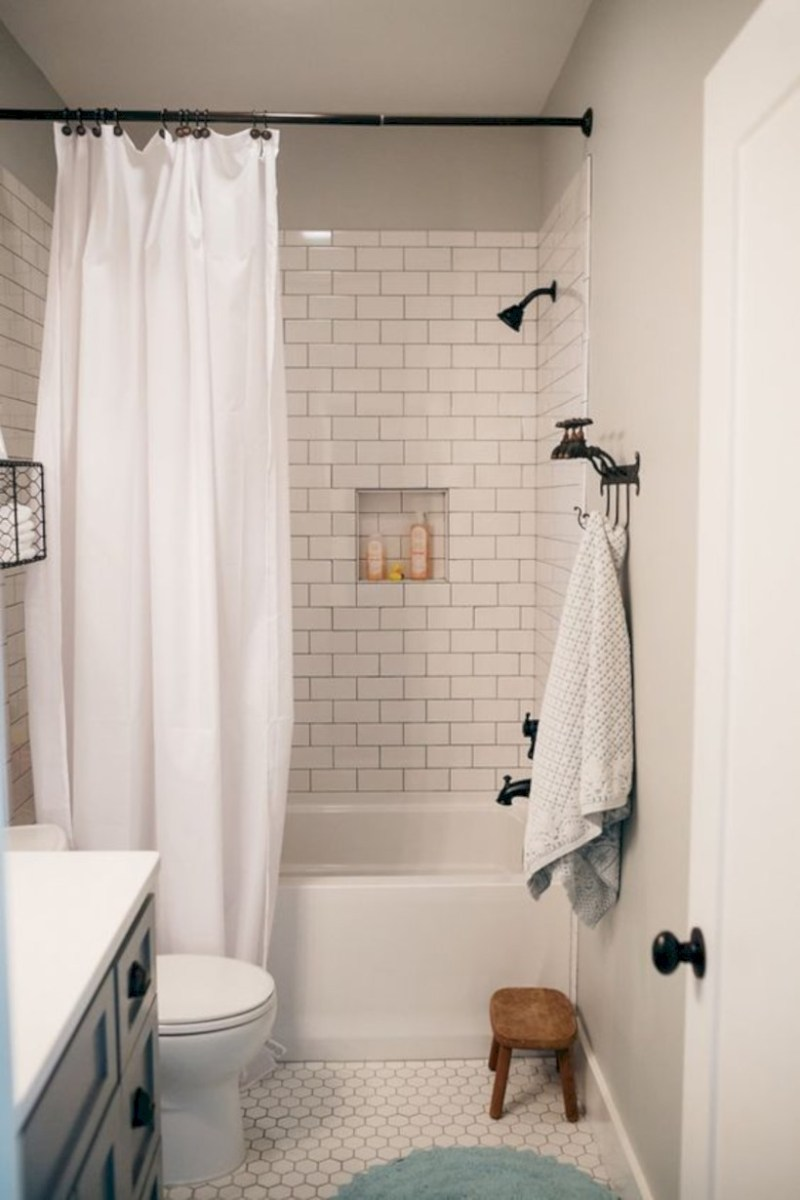 Beautiful subway tile bathroom remodel and renovation (35)