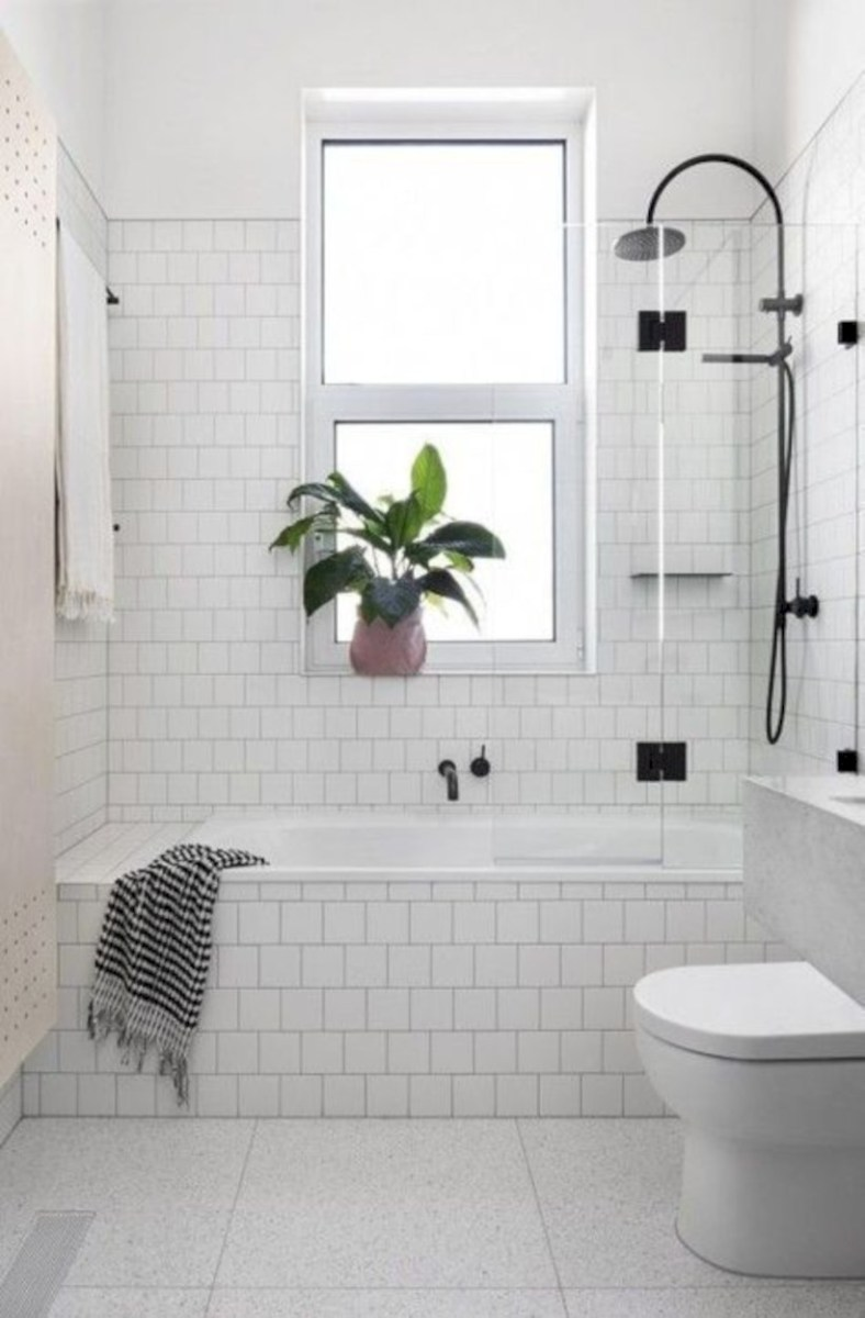Beautiful subway tile bathroom remodel and renovation (50)
