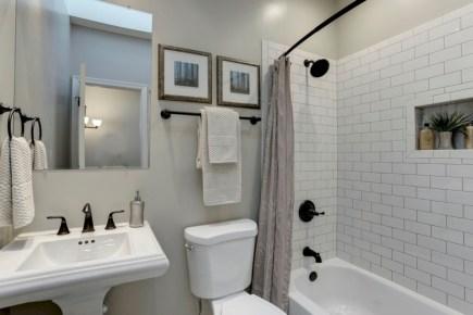 beautiful subway tile bathroom remodel and renovation 7