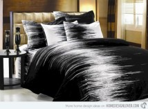 Black and white bedding sets ideas 14